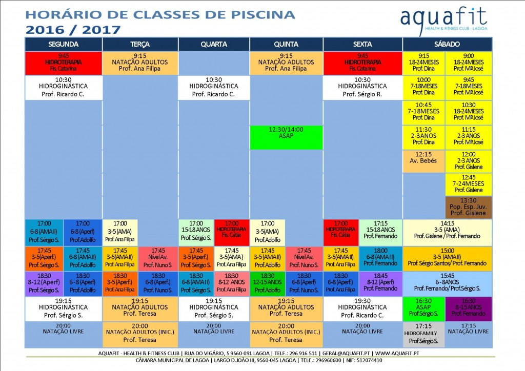 aquafit classes de piscina hor rios j dispon veis