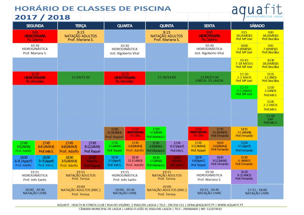 Aquafit aulas de piscina e de est dio 2017 2018 for Piscina xirivella horario 2017